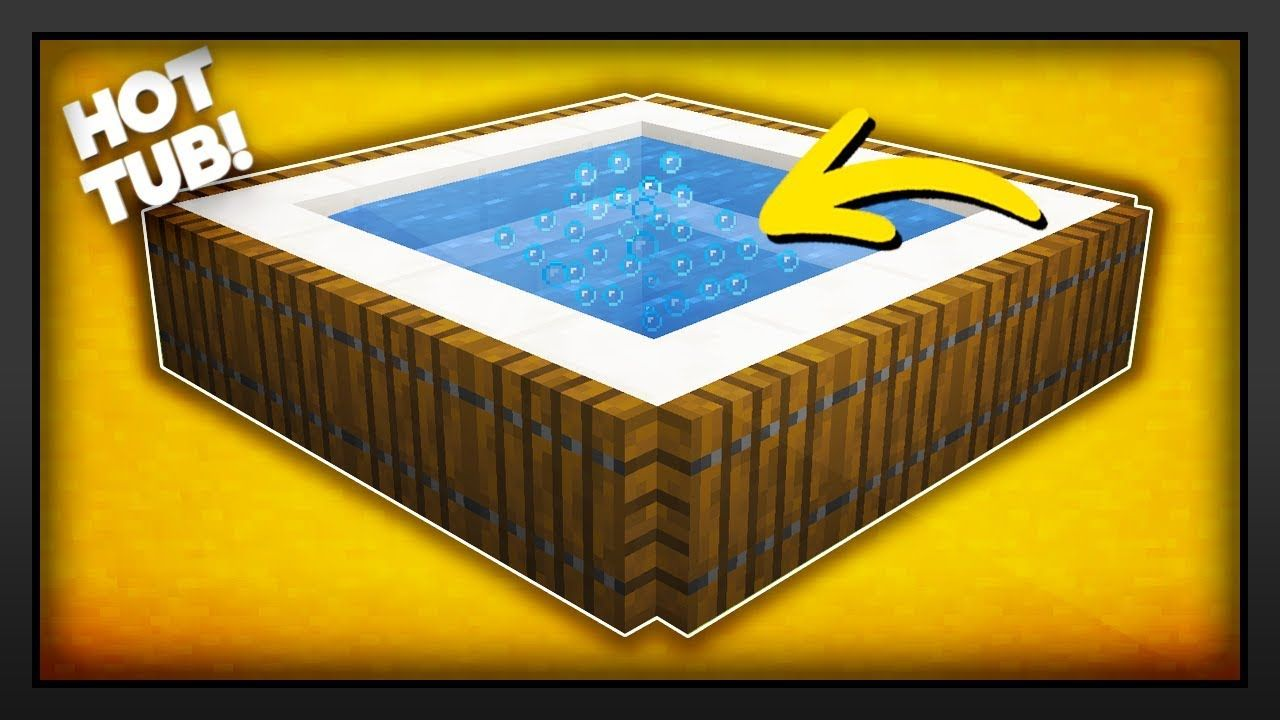 Minecraft How To Make A New Working Hot Tub Youtube Minecraft Designs Minecraft Minecraft Youtubers,Best Paint For Bathrooms Walls