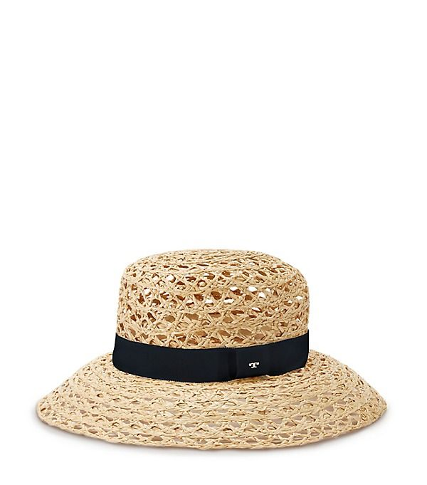 5910762ea90 Gucci Large-Brim Sun Hat w  Floral Tie (565 CAD) ❤ liked on Polyvore  featuring accessories