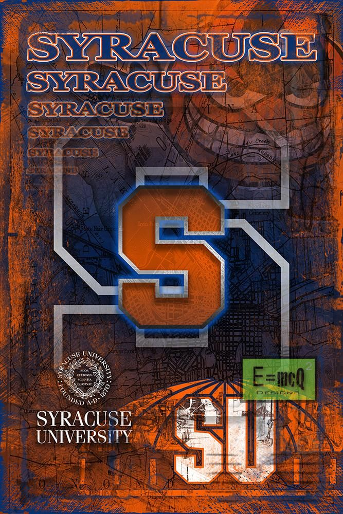 Syracuse Orange Poster, Syracuse Orange Print, Orange gift