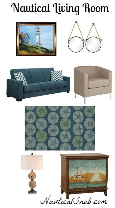 Nautical Living Room Mood Board