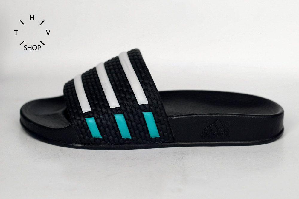 1991 Adidas Adilette Sandals / Unisex Adidas Adilette Slides / Deadstock  Slippers / Adidas Equipment sandals / Slovenia & Yugoslavia 90s