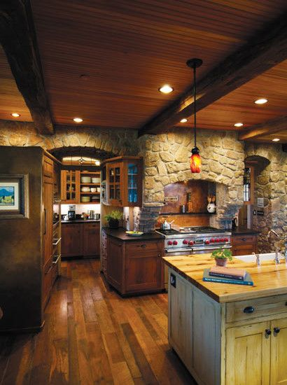 Rustic Butler S Pantry Accessibility Log Home