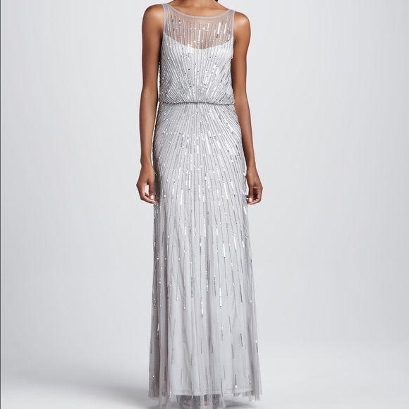 Aiden mattox silver sequin dress Boutique | Silver sequin, Aidan ...