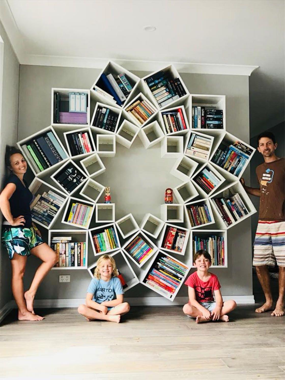 Diy Bookshelf Design Creative Bookshelves Plans Bookcase Furniture Room