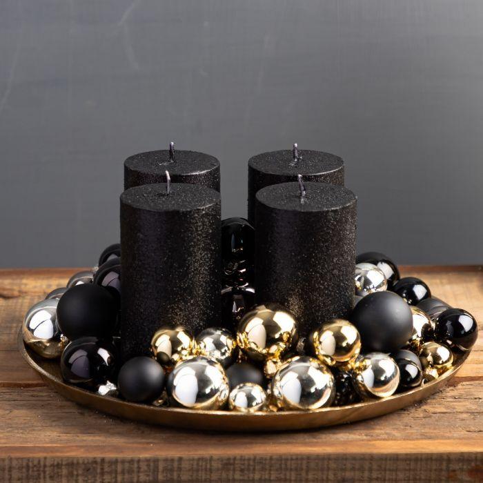 Schwarze Weihnachtsdeko