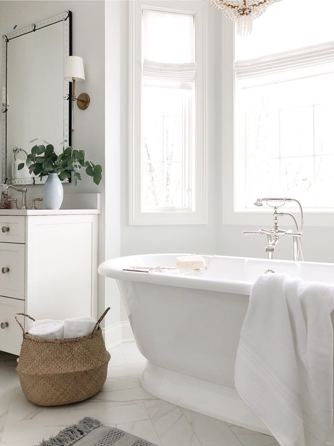 Bathroom Refresh With Pottery Barn Life On Cedar Lane Gray