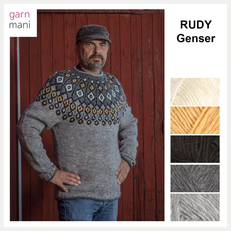 RUDY genser Garnmani.no Spesialist på islandsk ull