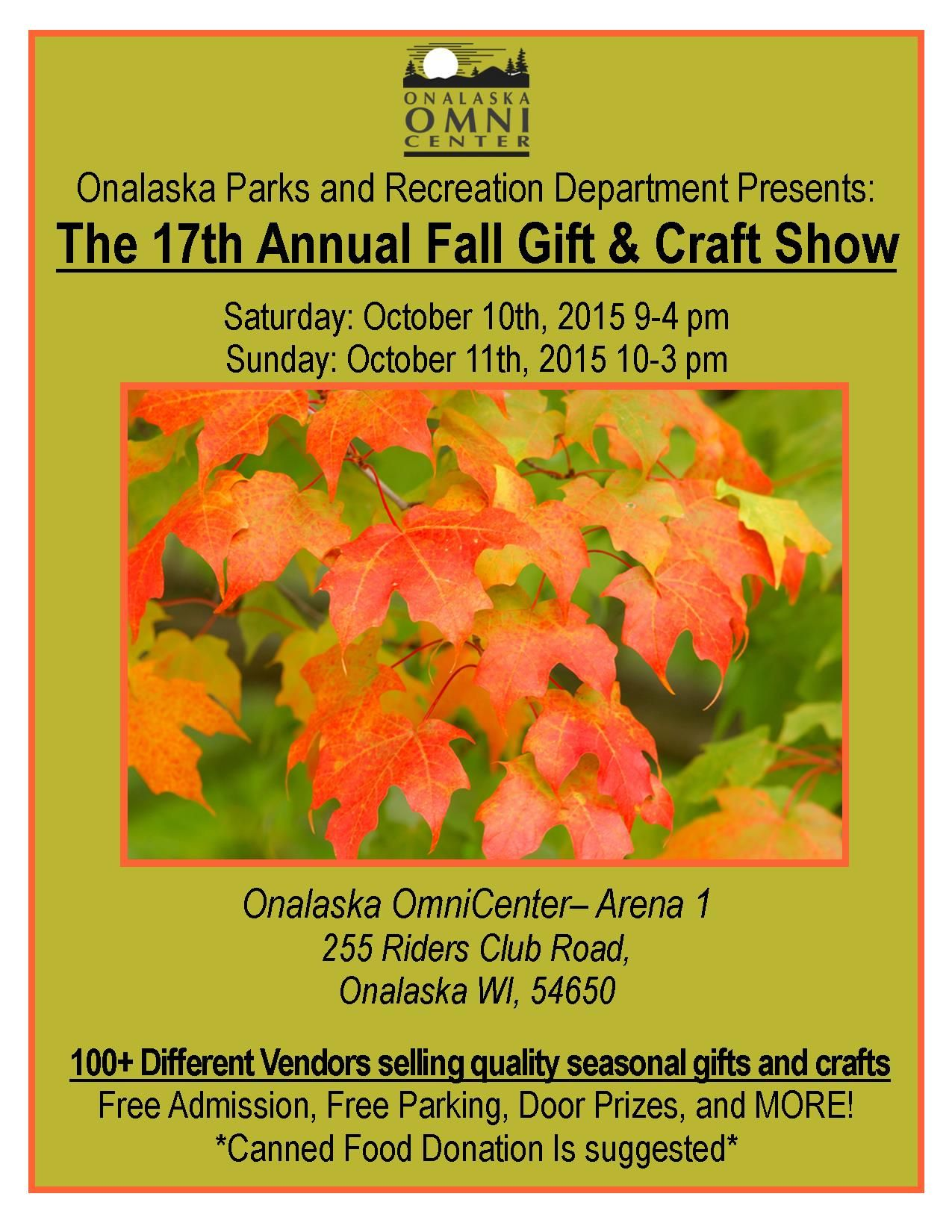 Gift and craft shows onalaska wi local events fall