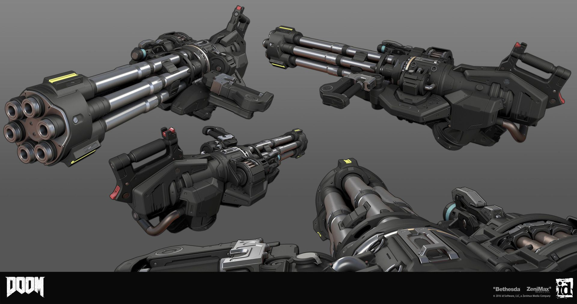 Artstation Doom Chaingun Gregor Kopka Weapons Consepts