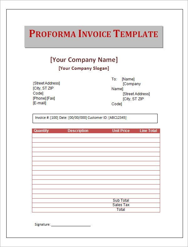 Image Result For Business Proforma Invoice Vs Invoice  Invoice