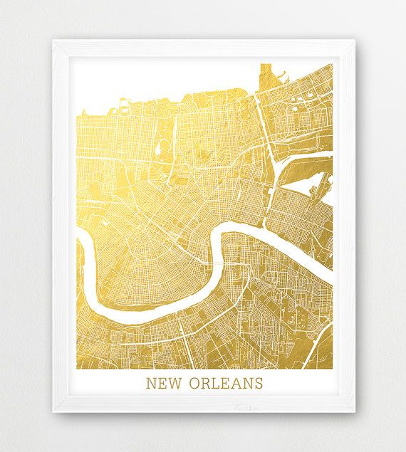 Instant Download New Orleans Map Print New Orleans Urban