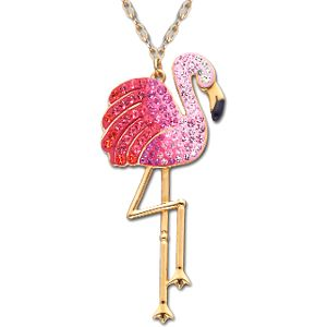 Swarovski Crystal Toco Flamingo Pendant Necklace I Own This And The Matching Earrings