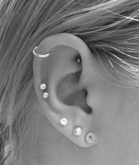 Ear Piercing Types Cartilage Double Cartilage Piercing