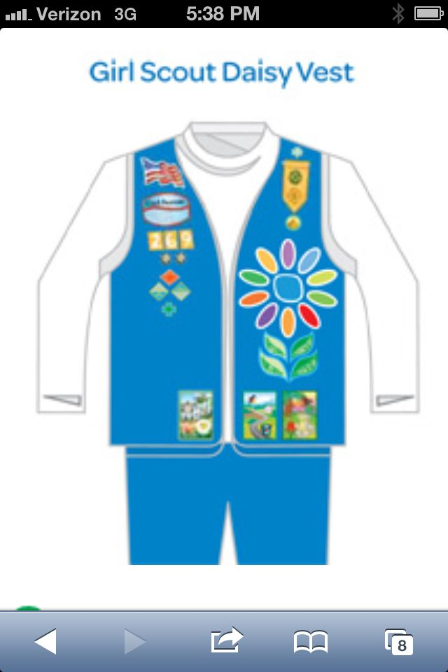 patch placement for daisy vest