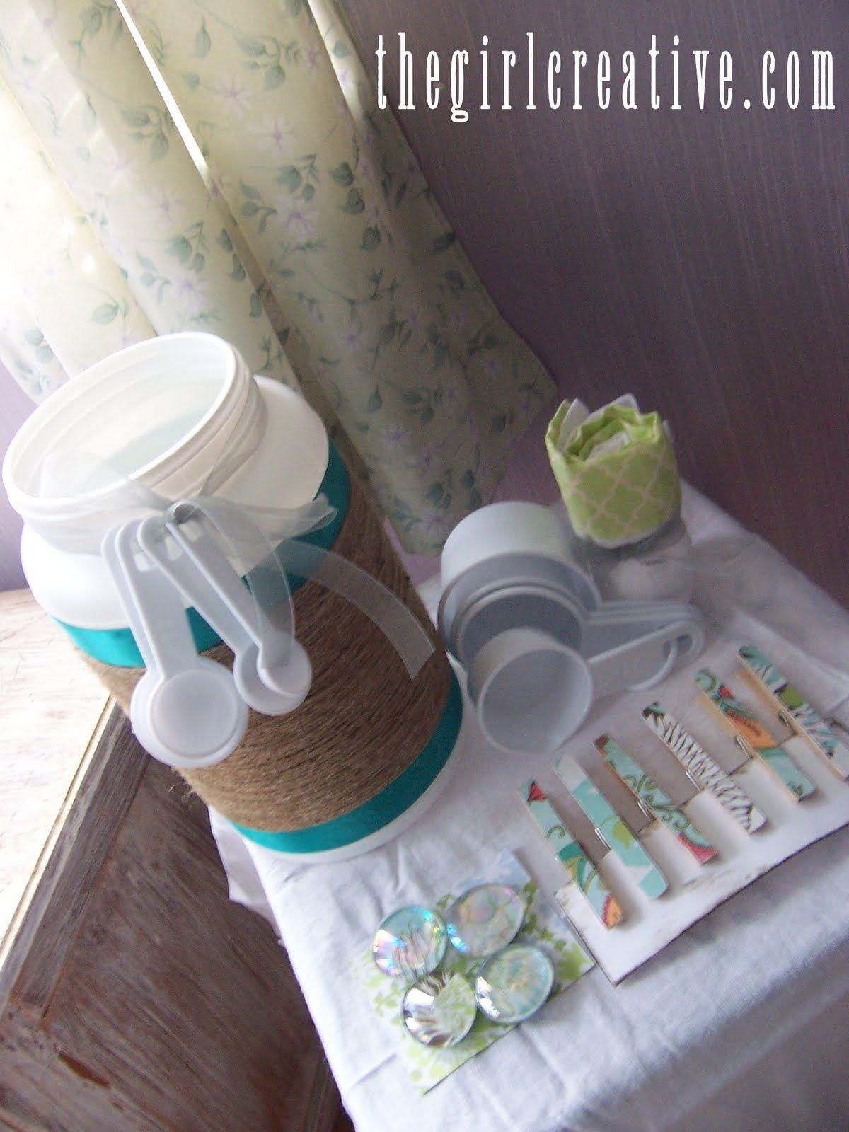 The Girl Creative: Bucket Full of Kitchen Stuff {Secret Sister Gift}