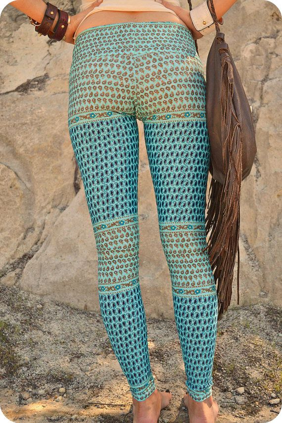 1dc8eb0ee5952f sea gypsy yoga leggings by purushapeople on Etsy, $98.00 | Wardrobe ...