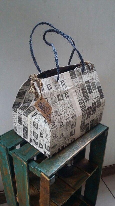 Bolsa baú  reutilização de jornal #GATOMALOKO