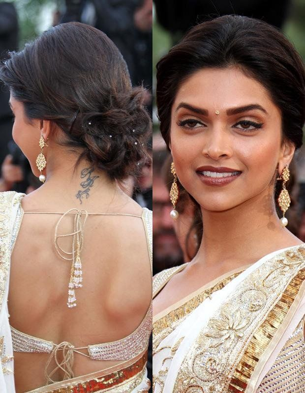 Tattooideasart Com Deepika Padukone Tattoo Ideas On Back Side Of The Body Deepika Podukone Is O Deepika Padukone Hair Celebrity Tattoos Indian Hairstyles