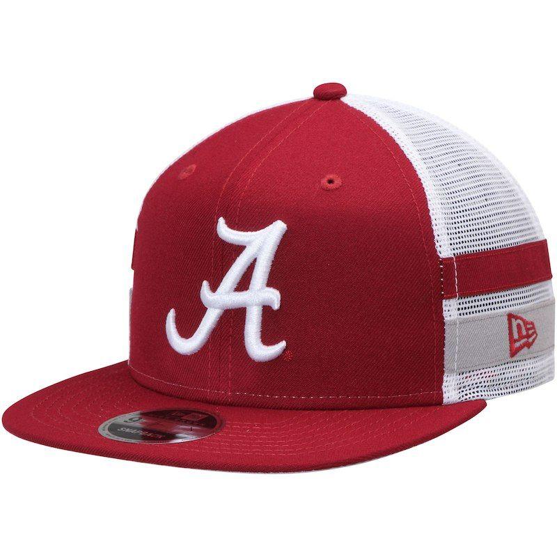 6fbee5ab7c6 Alabama Crimson Tide New Era Striped Side Lineup 9FIFTY Snapback Hat -  Crimson