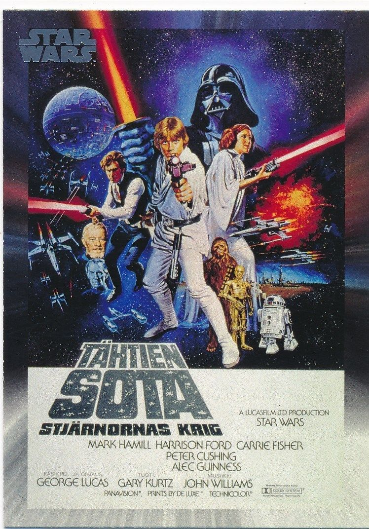 Style C Star Wars 40th Anniversary Base Card #103 Finnish Star Wars Poster