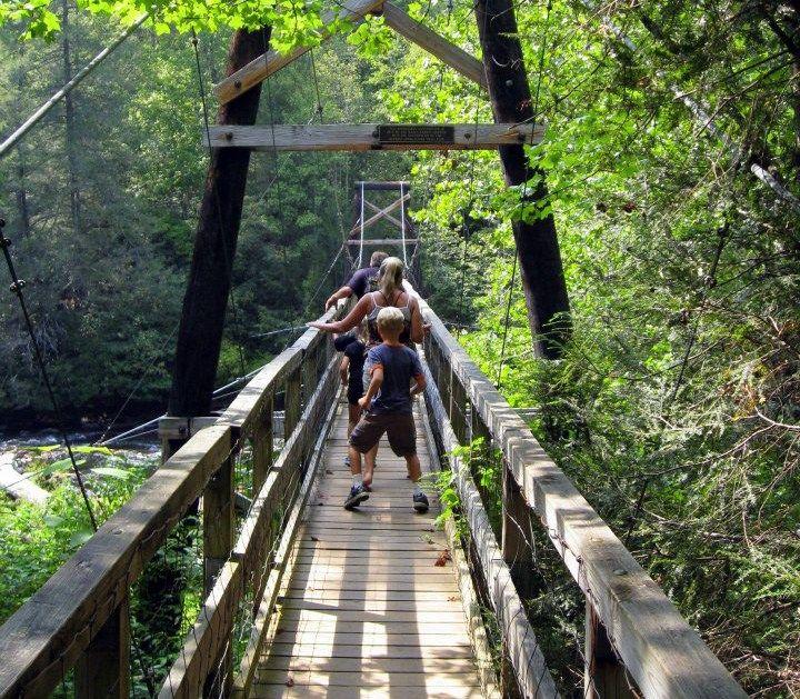 Something is. Hiking trails georgia swinging bridge hope