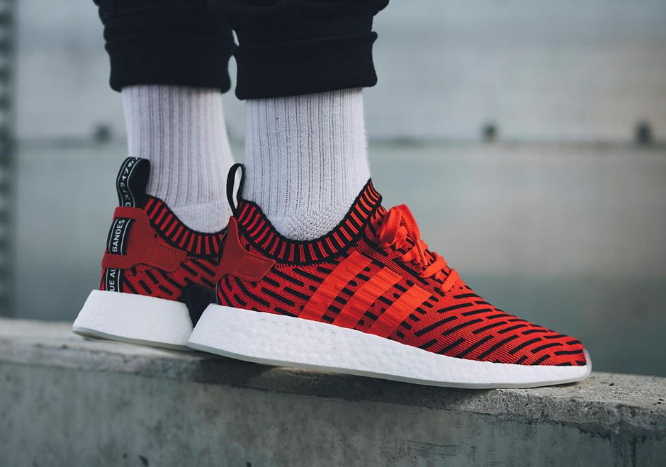 adidas Originals NMD R2 Primeknit Men's Red BB2910
