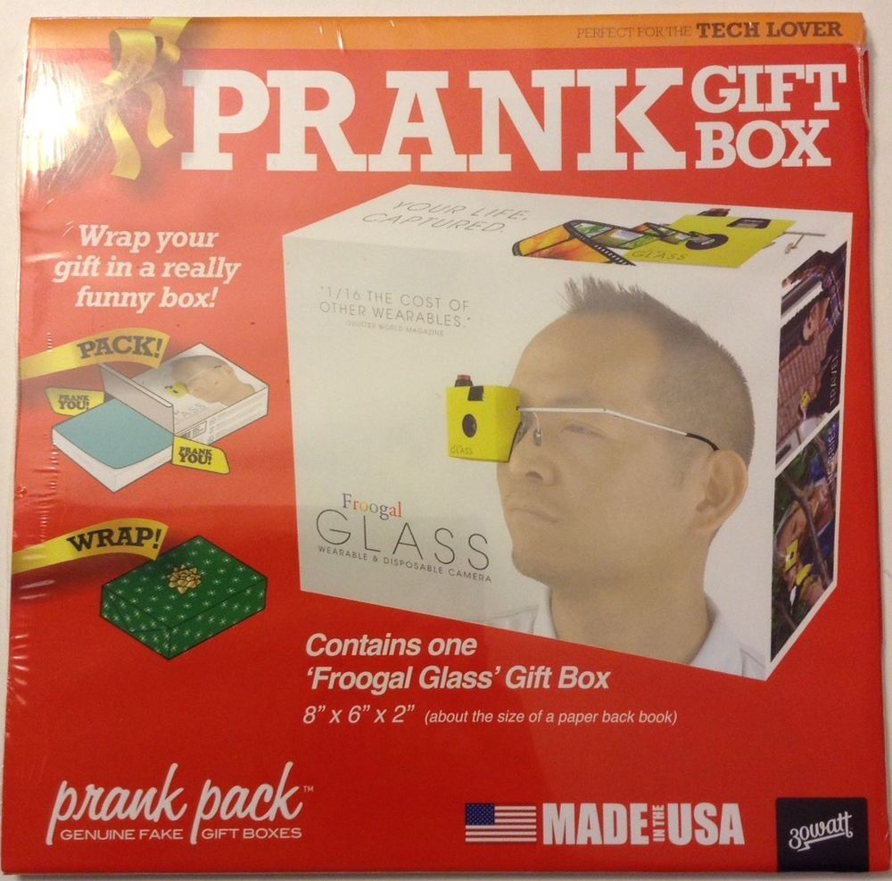 Prank Gift Box Froogal Glass Small Gift Box New Gag Gift Box Ebay