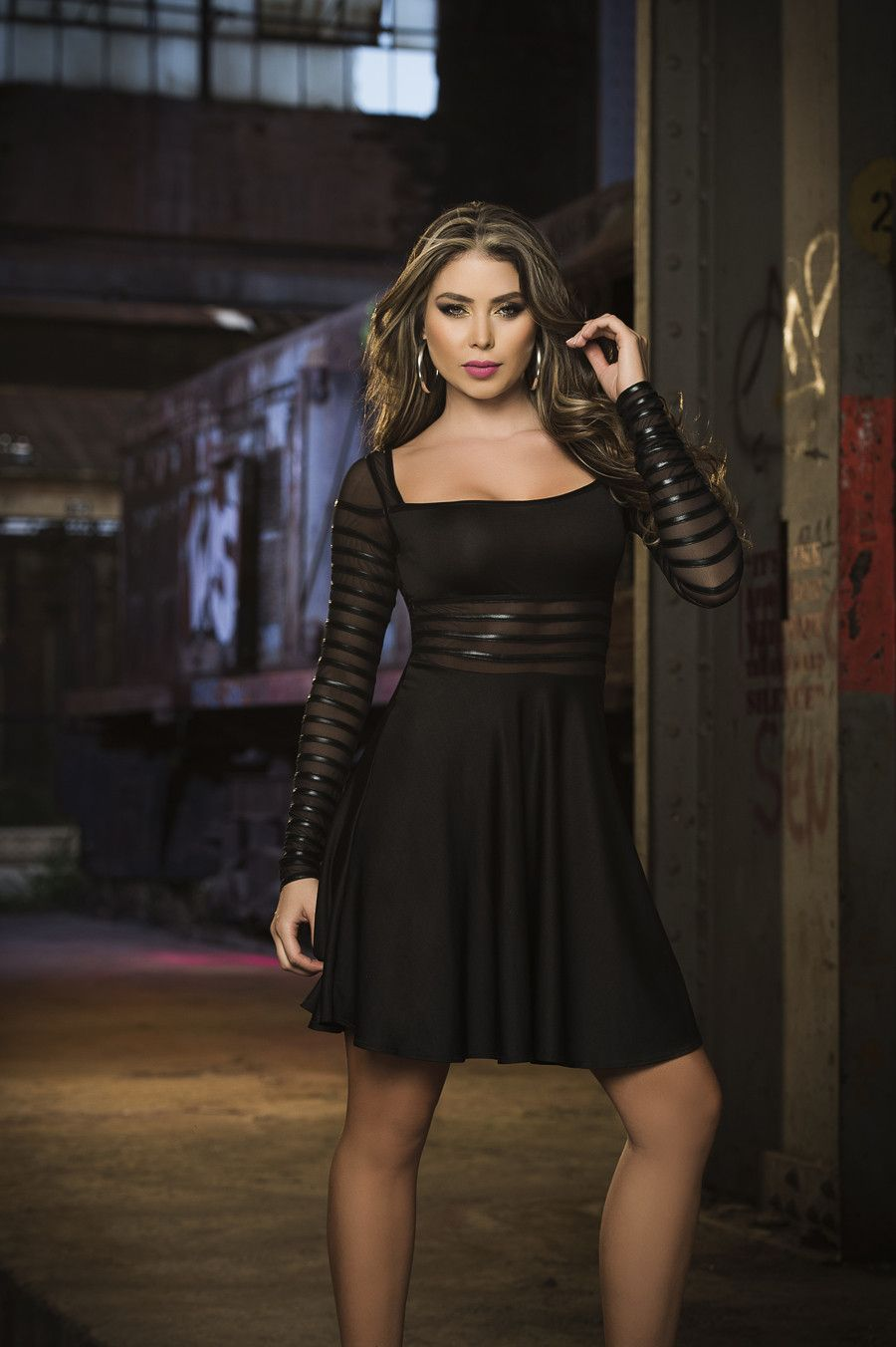 Black Sexy Winter Dress | Paola Canas | Pinterest