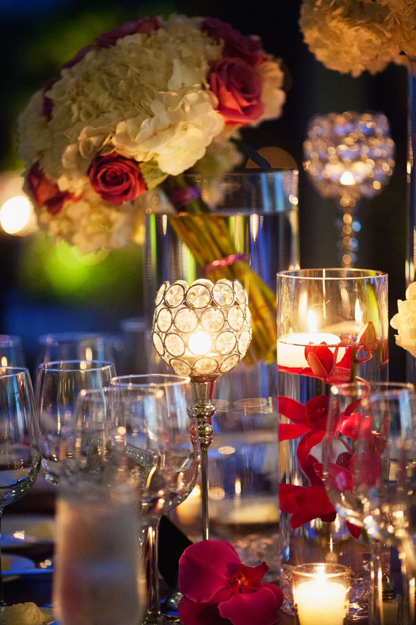 Wedding venue decoration ideas  Spectacular Miami Wedding  Miami Centrepieces and Wedding