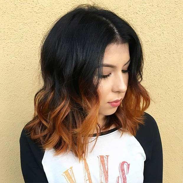 31 best shoulder length bob hairstyles orange ombre shoulder 31 best shoulder length bob hairstyles urmus Gallery
