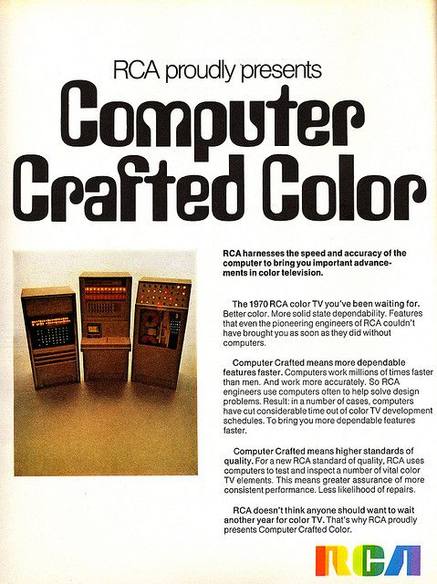 1970 RCA colour TV advertisement.