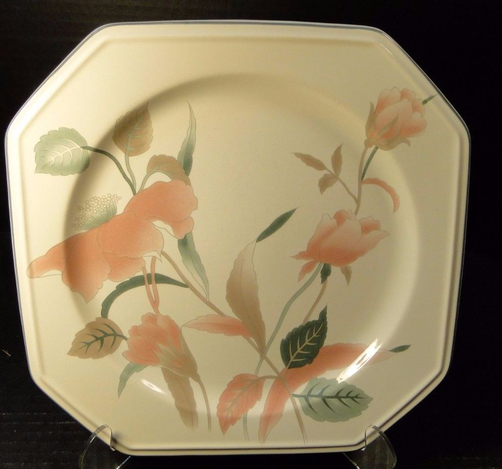 Details about Mikasa Silk Flowers Dinner Plate F3003 10  EXCELLENT & Details about Mikasa Silk Flowers Dinner Plate F3003 10