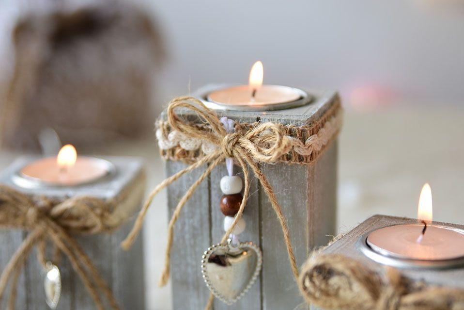 Dodatkowe New Vintage Świecznik Świąteczne Dekoracje Drewniane Świąteczne WI16