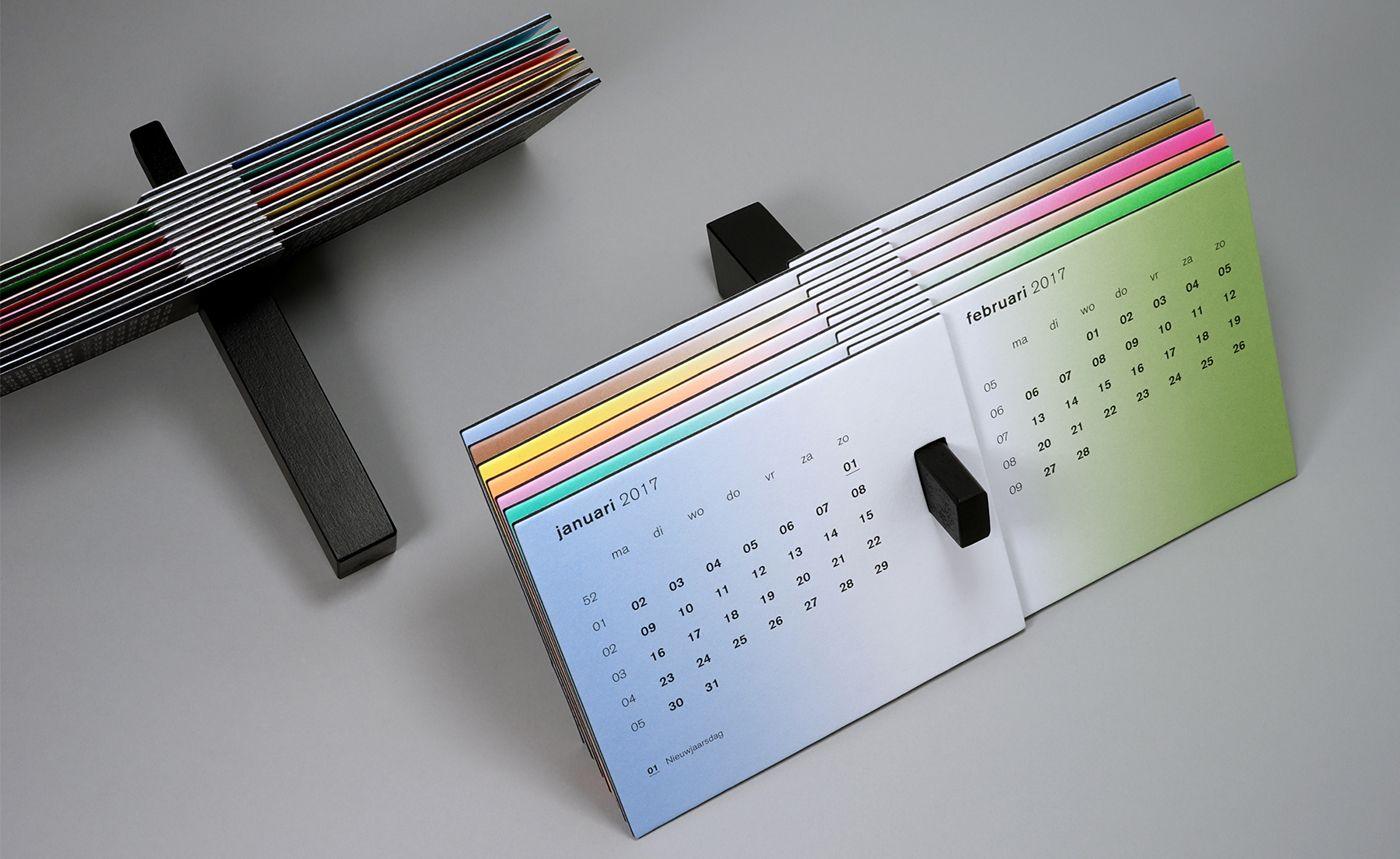 Desk Calendar The Black Swan For Dutch Printer Zwaan Printmedia