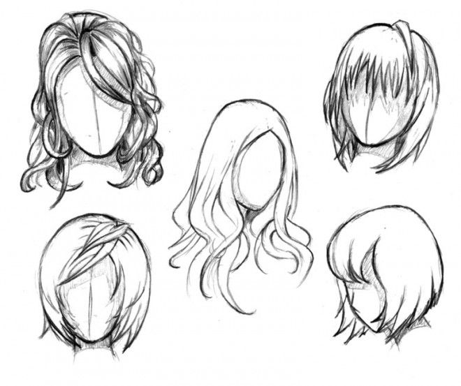 How To Draw Anime Tutorial With Beautiful Anime Character Drawings Manga Hair Anime Character Drawing How To Draw Hair