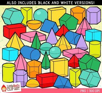 3d shapes | Etsy