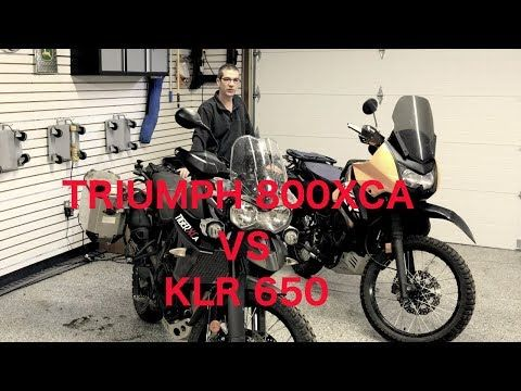 Adventure Motorcycle Comparison Klr Vs Tiger 800 Xca Youtube