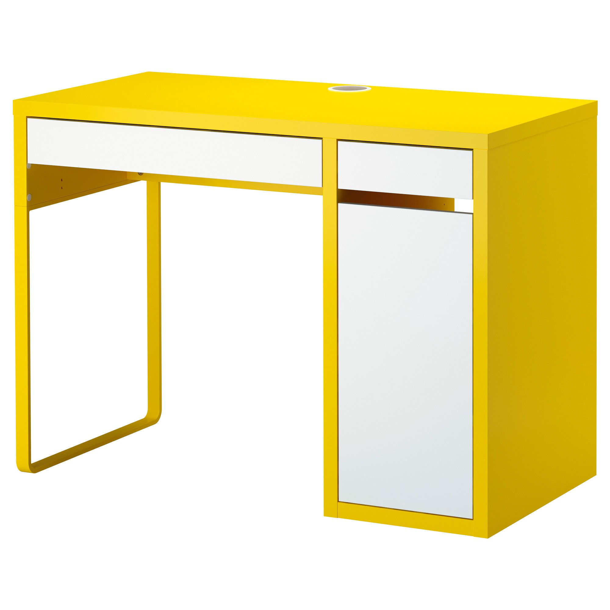 micke desk yellow white ikea desks pinterest. Black Bedroom Furniture Sets. Home Design Ideas