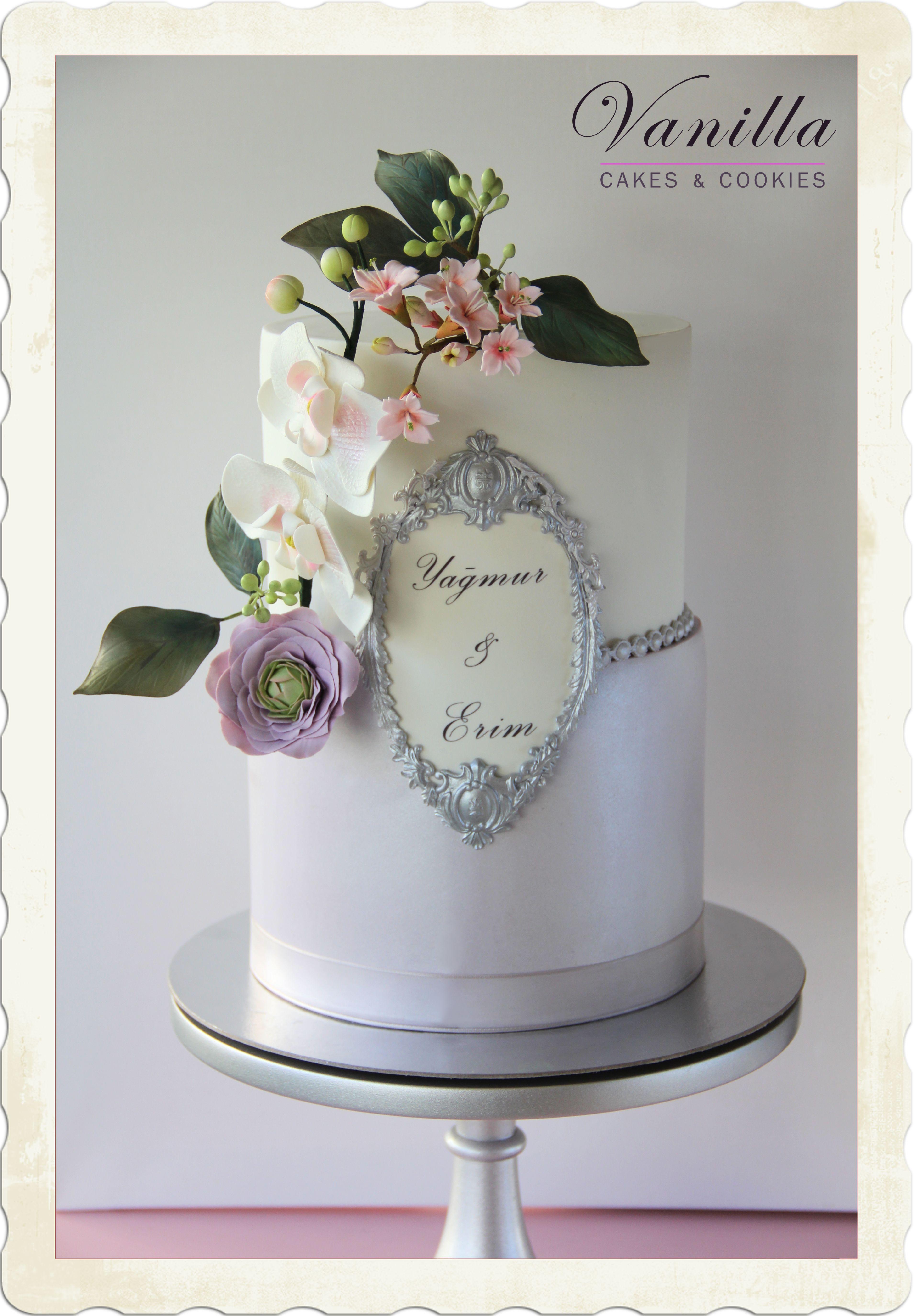 Engagement cake with gumpaste flowers nian pastas eker hamuru engagement cake with gumpaste flowers nian pastas eker hamuru iekli nian pastas wedding izmirmasajfo
