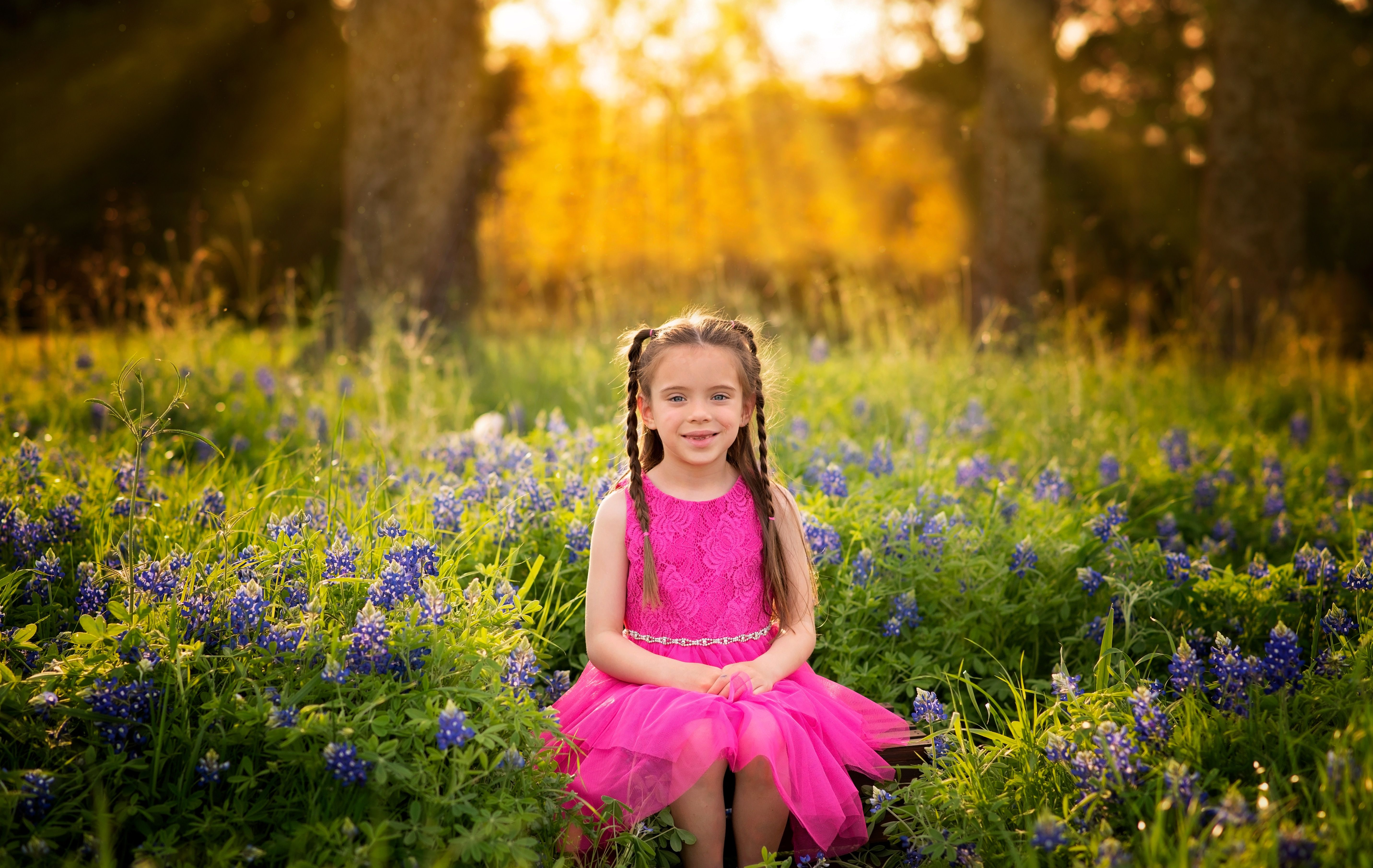 Texas Bluebonnet Session With Alicia Wilson Photography In Rockwall Texas In 2020 Flower Girl Dresses Lifestyle Newborn Photography Blue Bonnets
