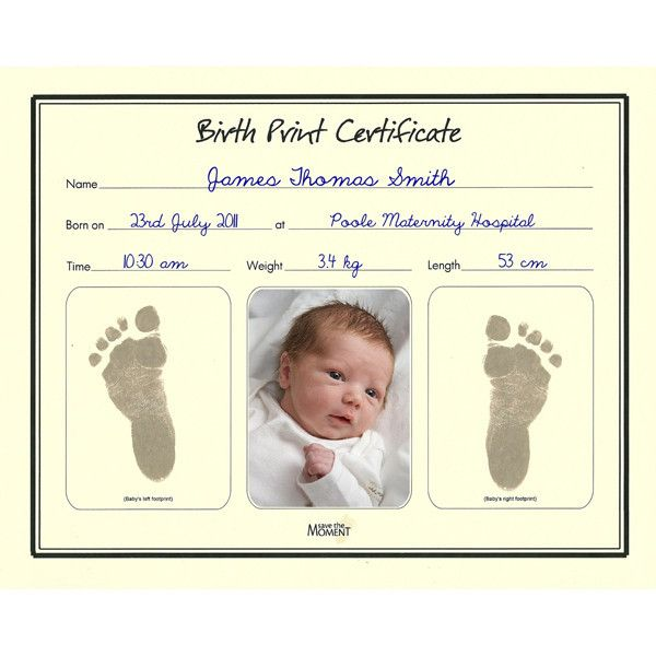 Birth Certificate With Inkless Print Kit (With Images