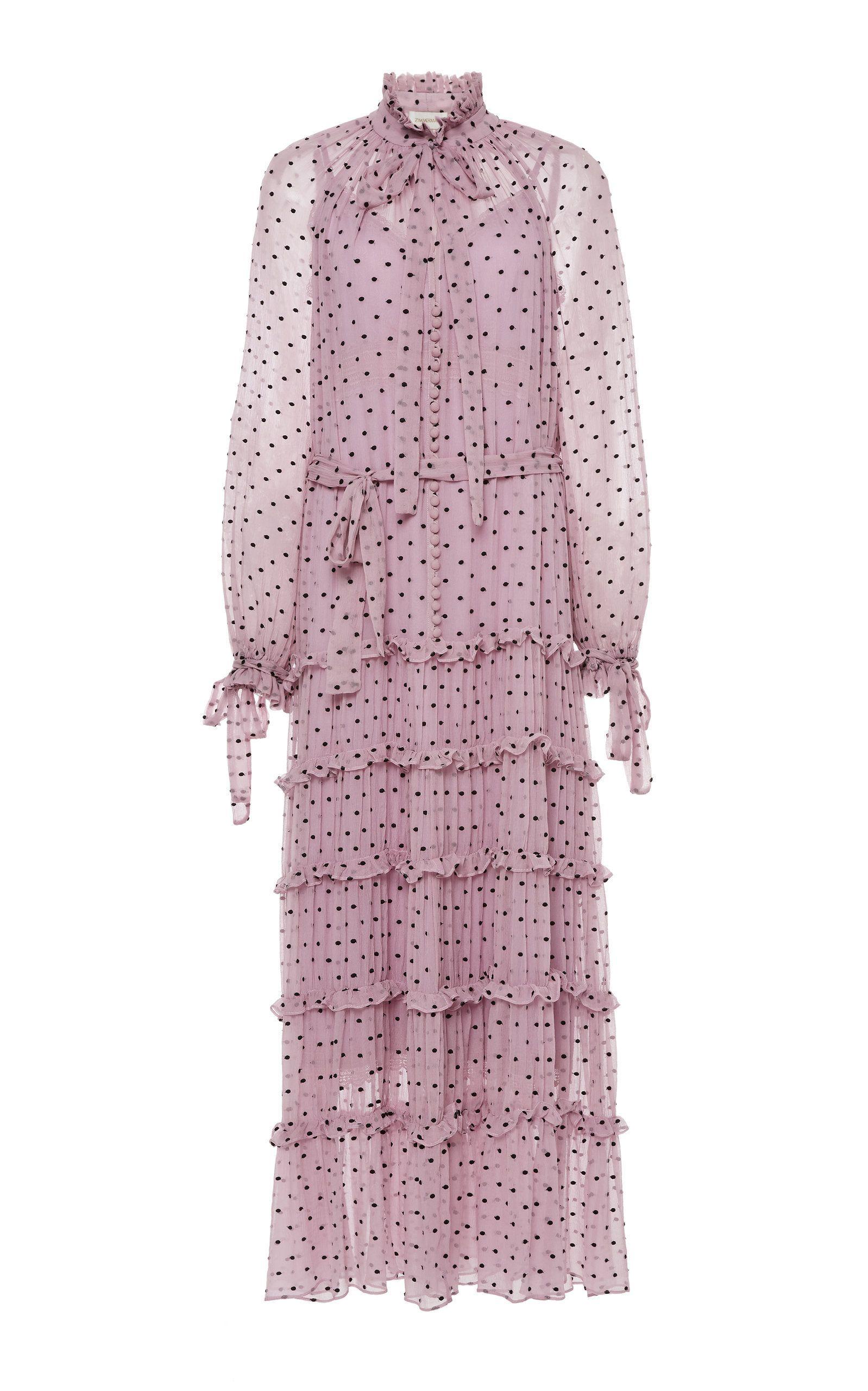 a8ad77ee51 Ninety-Six Neck-Tie Silk Dress by ZIMMERMANN for Preorder on Moda Operandi