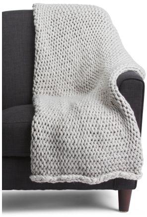 Light Grey Himalaya Knit Throw. Affiliate