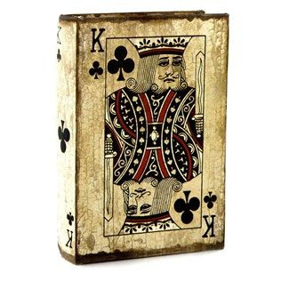 Hobby Lobby Decorative Boxes King Of Clubs Book Box Game Room Storage Boxes  Games & Gameroom