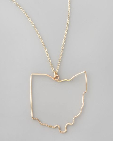 The ohio state pendant necklace is handmade in your choice of 14 the ohio state pendant necklace is handmade in your choice of 14 karat gold fill aloadofball Gallery