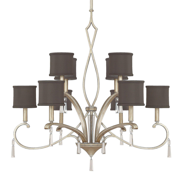 Capital lighting elan collection brushed silver chandelier black capital lighting elan 10 light chandelier in brushed silver with crystals aloadofball Gallery