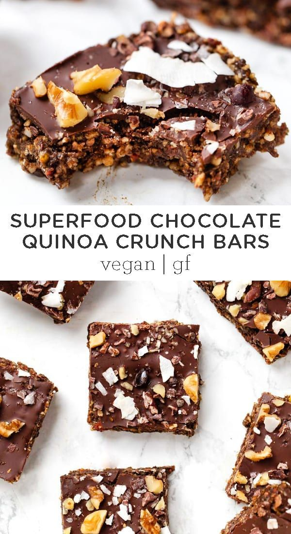 Photo of Superfood Chocolate Quinoa Bars | Gluten-Free & Vegan – Simply Quinoa