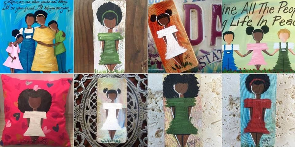 Dayo Art, reclaimed wood art, magnets... Custom order a painting by Nashville based artist Dayo Art. Ships Worldwide! 615-870-6167