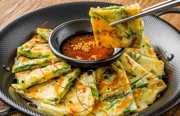Alternatively known as Korean pancake or Korean pizza, there are countless types of jeon – essential... - Shutterstock/norikko