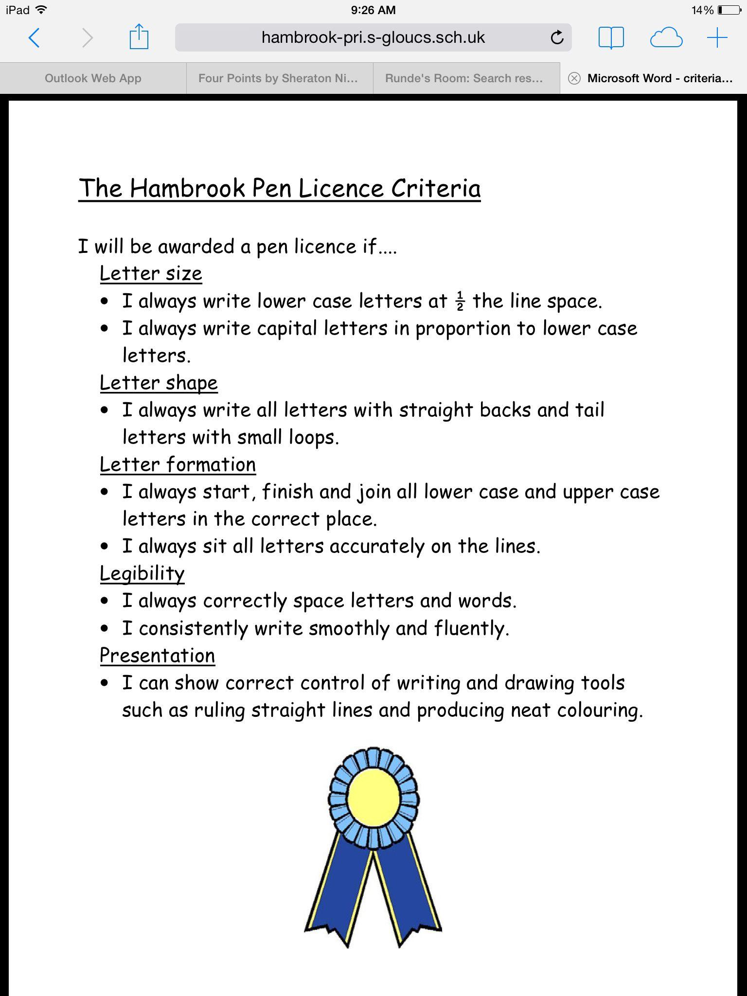 Application Pen Licence
